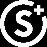 Webagentur Omnes Swiss GmbH Logo mit einem S in der Mitte und einem vier fünftel Kreis, das von einem Plus Zeichen unterbrochen wird.